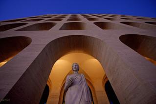 Statue at the Square Colosseum, EUR