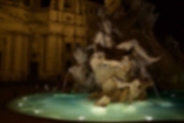 Bernini's four rivers fountain in Piazza Navona. Learn night photography with Unique Rome Photo Tour from Dusk to Dawn by Giulio D'Ercole