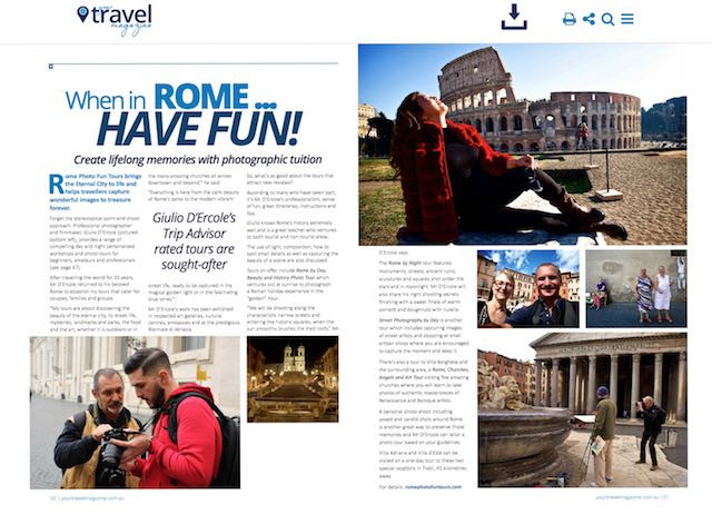 Rome Photo Fun Tours provides info on its safe private photo tours in Rome, Tuscany and Apulia (Puglia). Be aware, enjoy your Roman Holiday!
