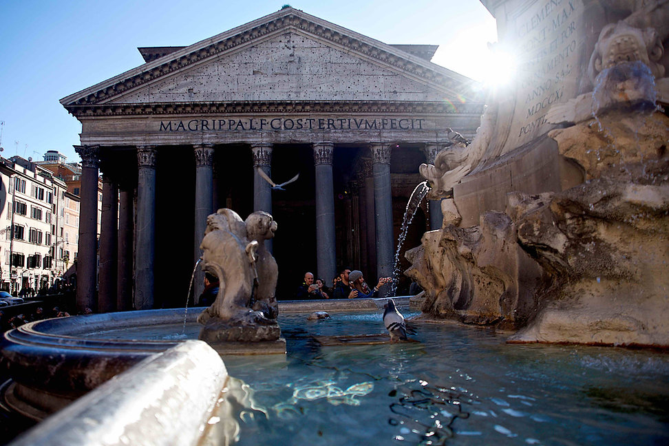 Pantheon, water and light