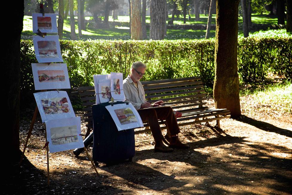 Artist in Villa Borghese, Rome