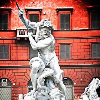 Post Modern Bernini's Neptune during a P