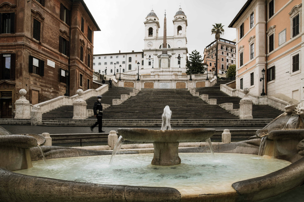 The Spanish Steps at the times of Covid-19