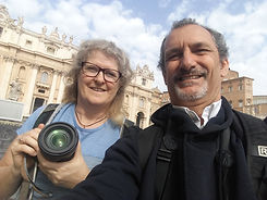 Selfie in St. Peter's square with Australian client on Rome by day Beauty and History Photo Tour by Giulio D'Ercole of Rome Photo Fun Tours