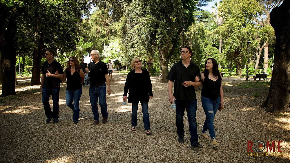 Villa Borghese, Photo Shooting your Roman Holidays, be photographed alone or with your family in Rome by Giulio D'Ercole