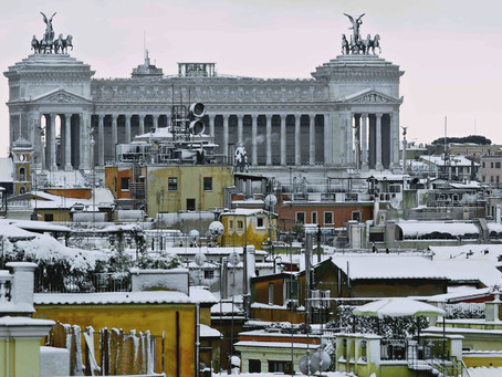 19. Roofs of Rome and Vittoriano under the snow