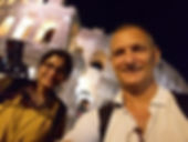 Happy selfie at the Colosseum with an Indian client on a Rome by Night Photo Tour Under the Stars by Giulio D'Ercole of Rome Photo Fun Tours