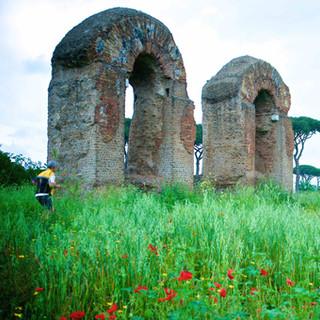 The Roman aqueduct on Appia Antica