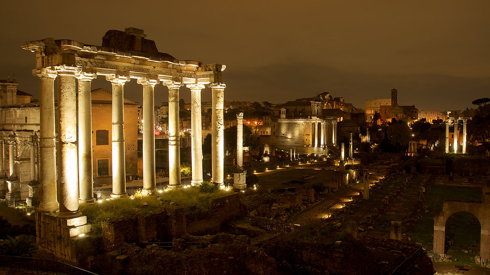 90. The Roman Forums from Campidoglio GD