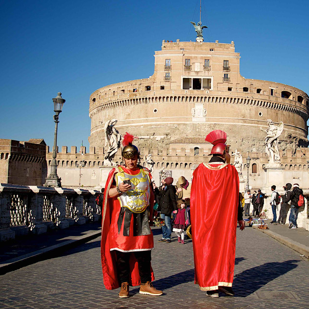 Roman Legionaries with a mobile phone