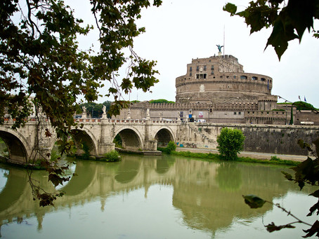 48. On the Tiber shores: A view on Castel Sant'Angelo