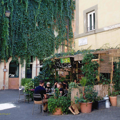 Relaxing time in Trastevere