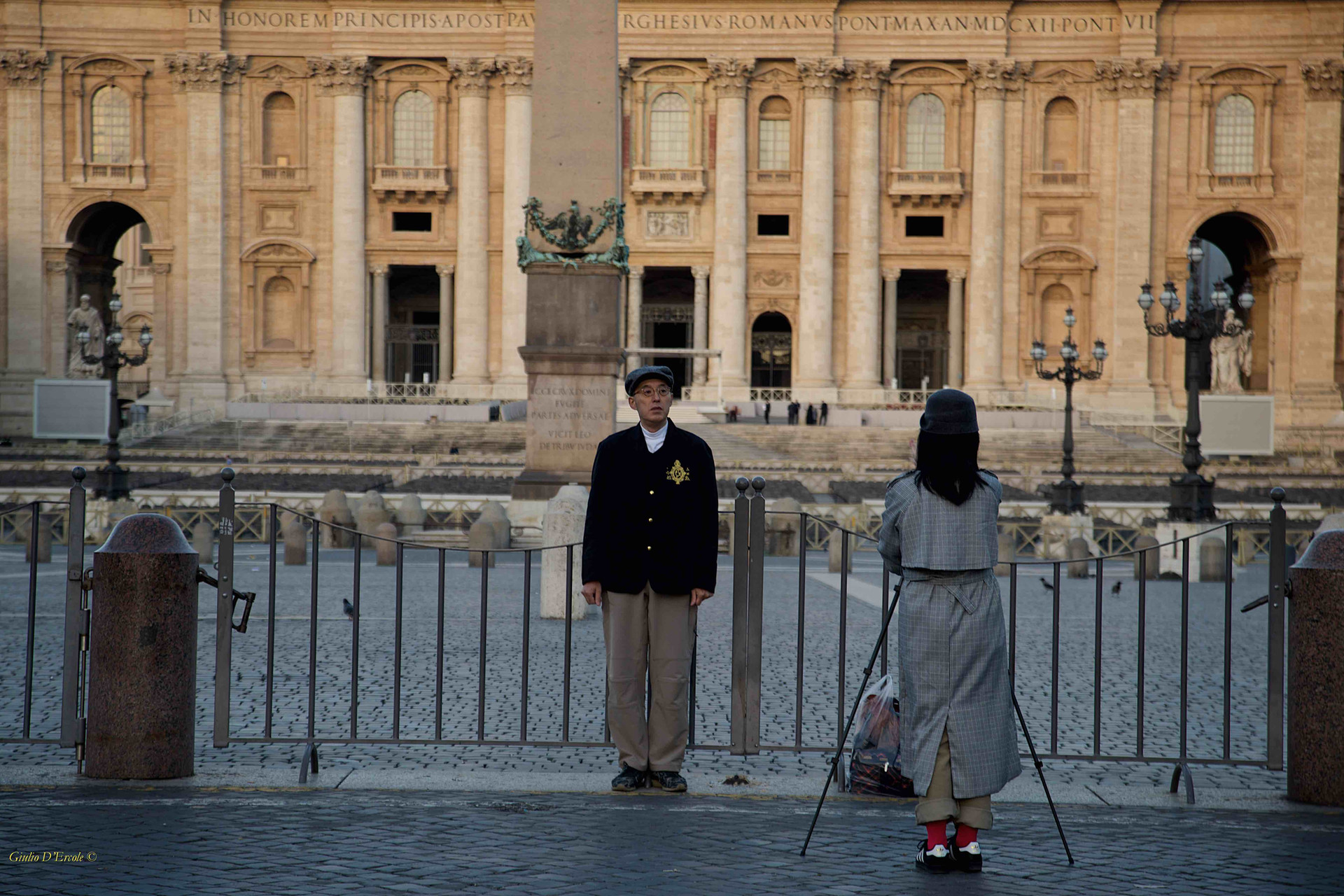 Taking photos at St. Peter's Square