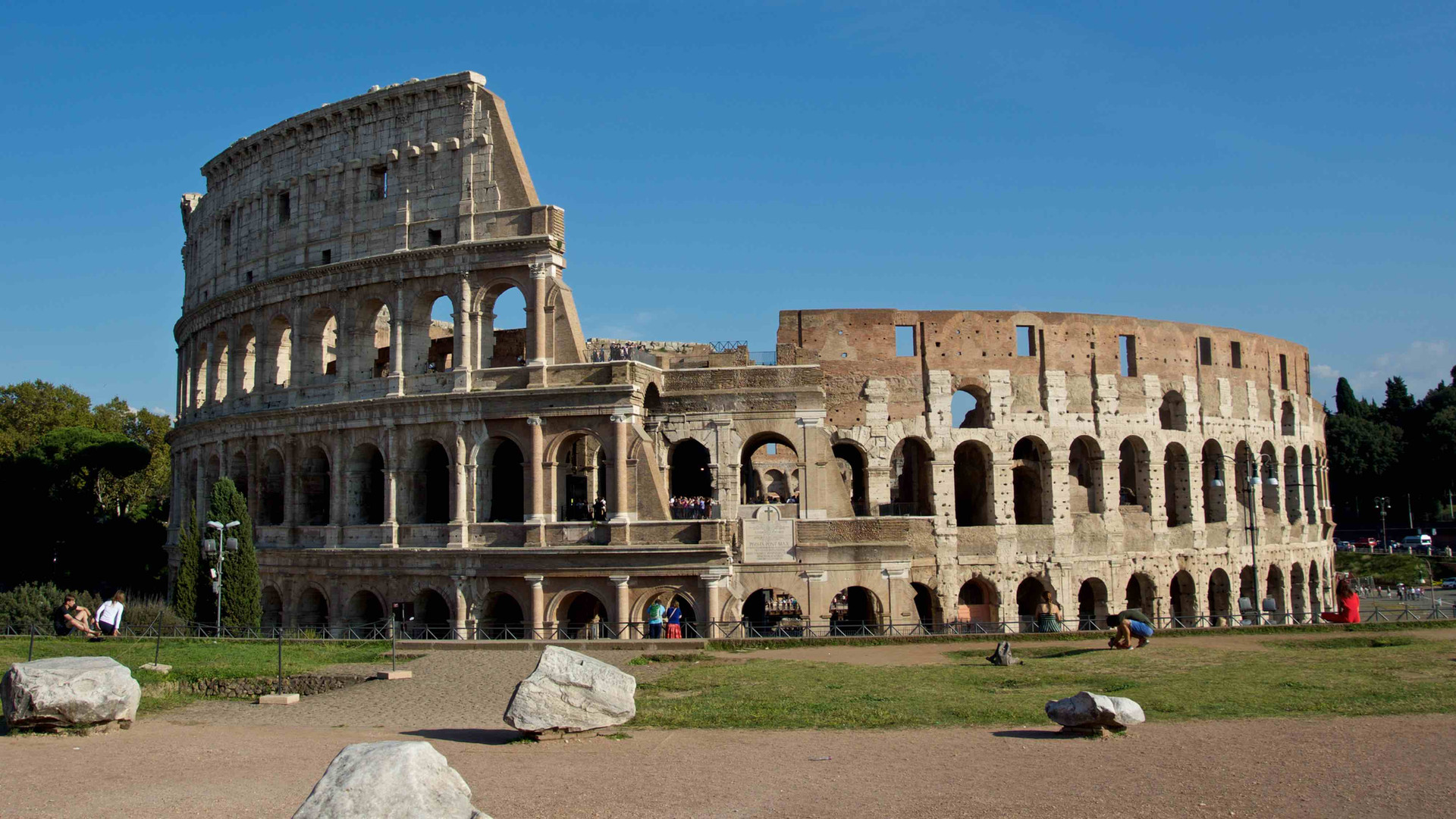 The Colosseum from Palatine hill
