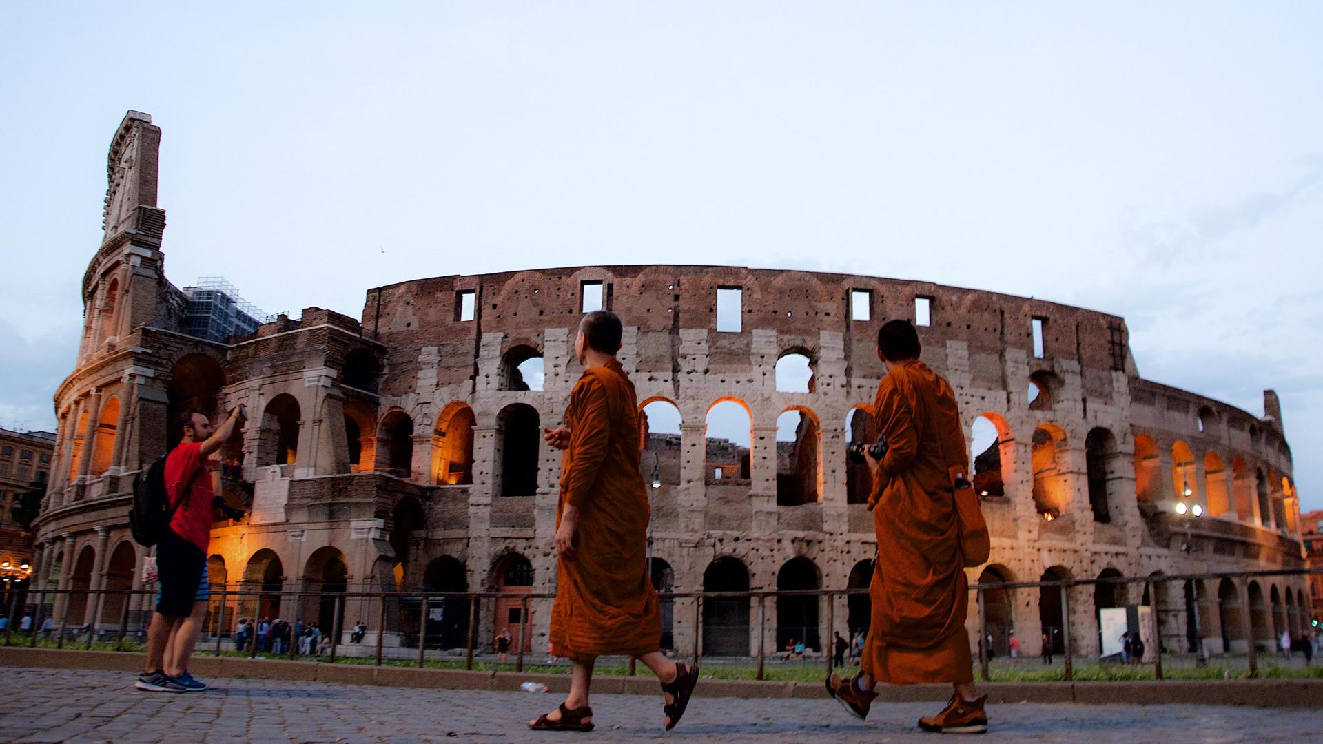Tibetan Monks at the Colosseum