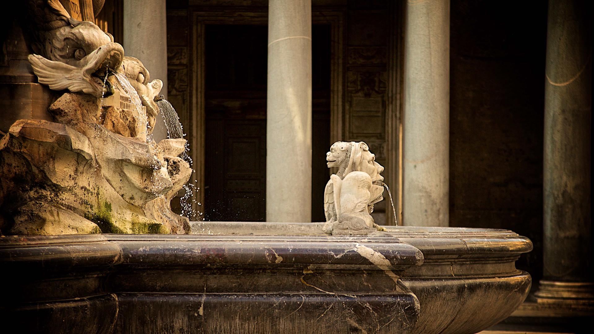 Fountain at Pantheon