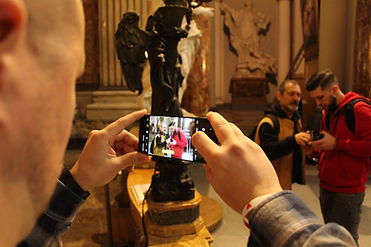 Photographed, inside St. Ignatius Church during the Rome by Day Beauty and History Photo Tour, by Giulio D'Ercole of Rome Photo Fun Tours.
