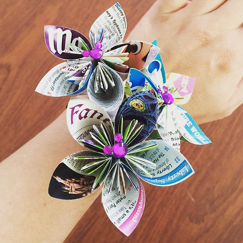 Disney Park Map Paper Flower Wedding Corsage
