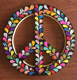 Wood Peace Sign