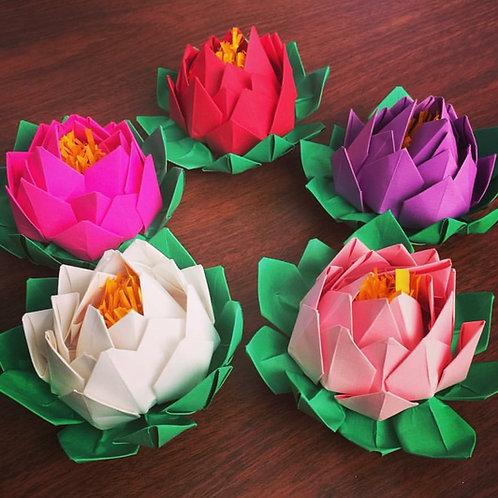 Lotus Paper Flowers