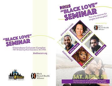 Black Love Seminar Event Program (outside)