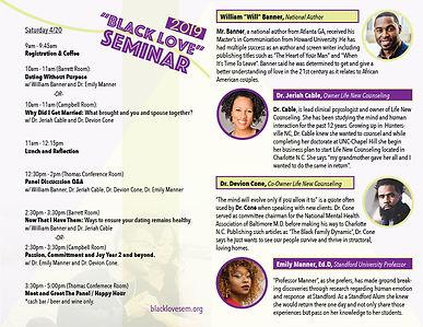 Black Love Seminar Event Program (inside)