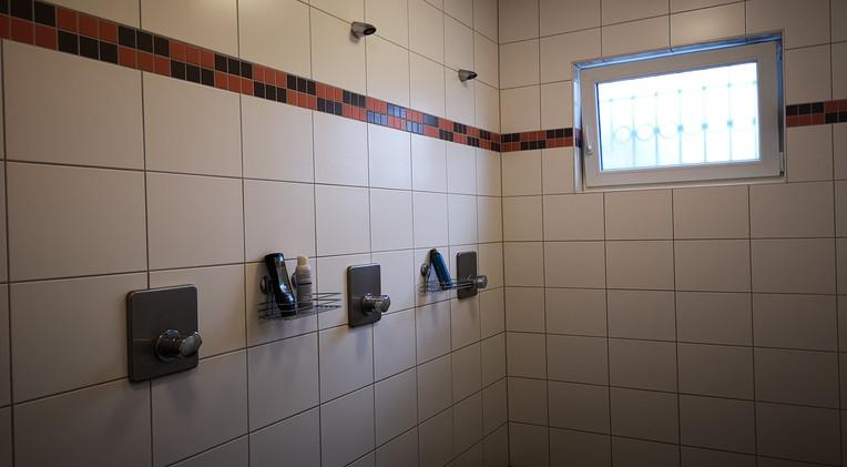 Dusche der Heimmannschaft
