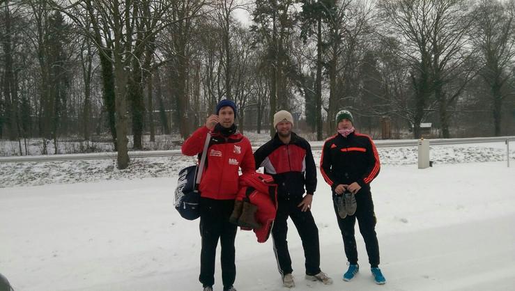 Laufeinheit im Winter