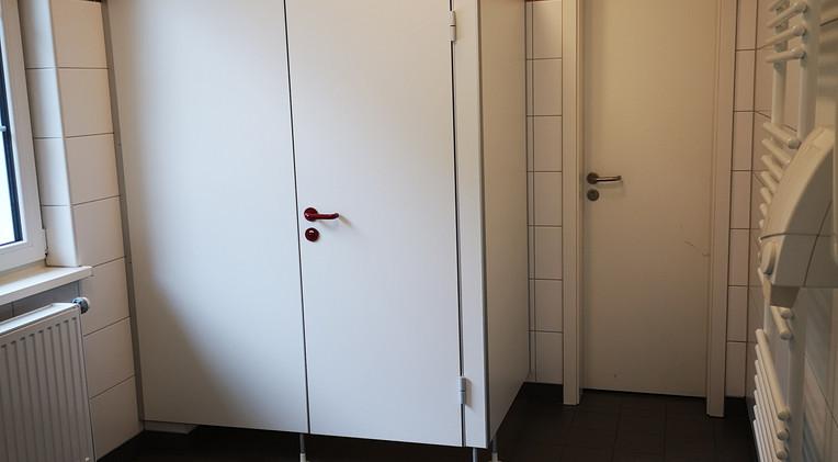 WC der Schiedsrichterkabine