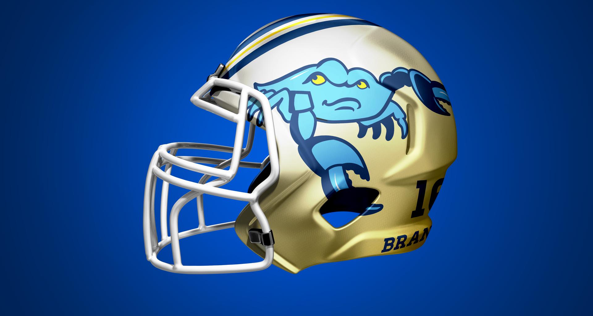 Fighting Blue Crab Football Helmet