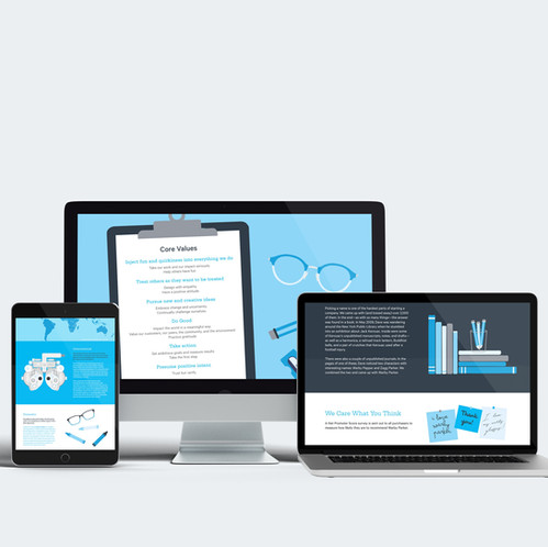 Warby Parker Annual Report Microsite