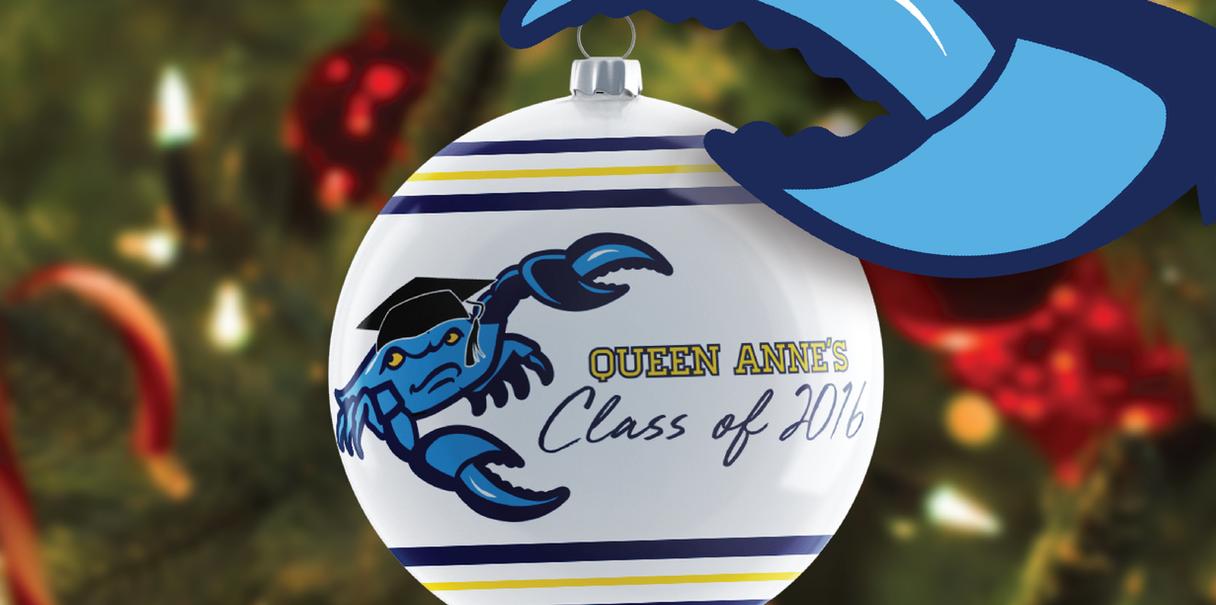 Fighting Blue Crab Commemorative Graduation Ornament