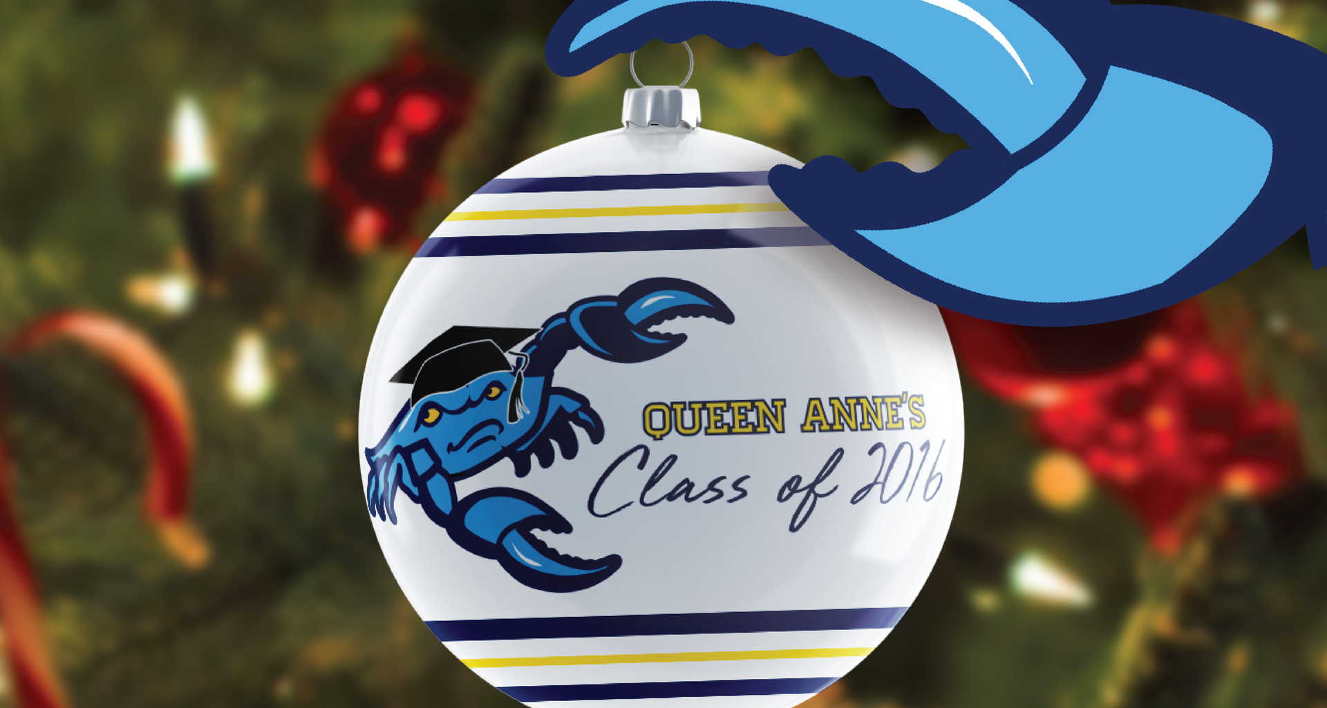 Fighting Blue Crab Commemorative Graduation Ornament