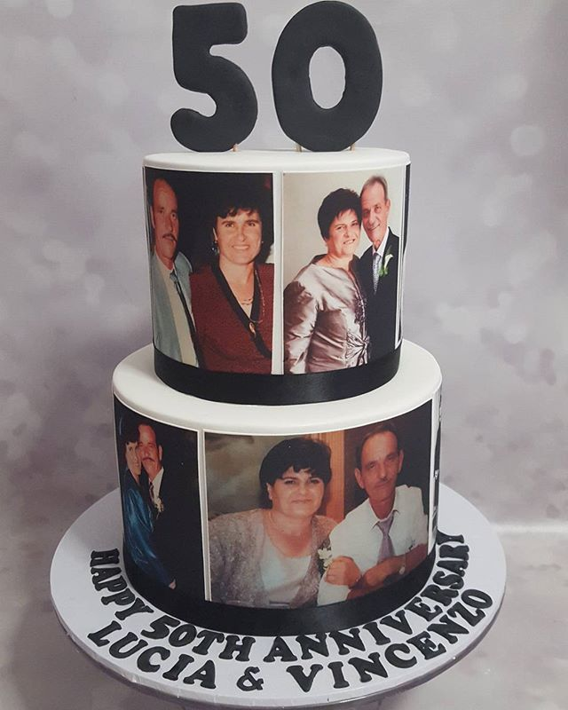 Fifty years of marriage ♡_#anniversarycake #fifty #milestone #love #family _#cake #party #celebrate