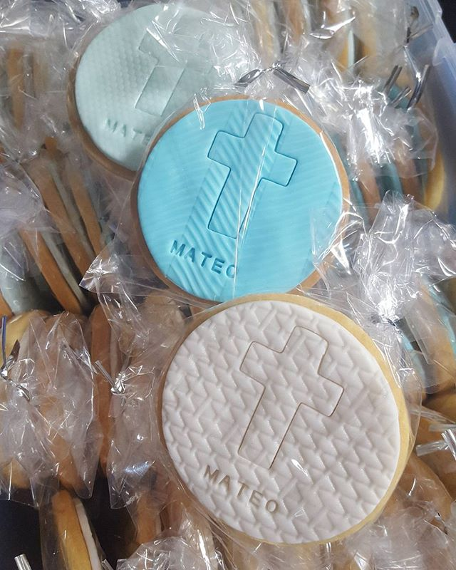 Baptism party favors for today_#baptism #cookies #custom #blue #boys #baby #favors #sydneysweets #pe