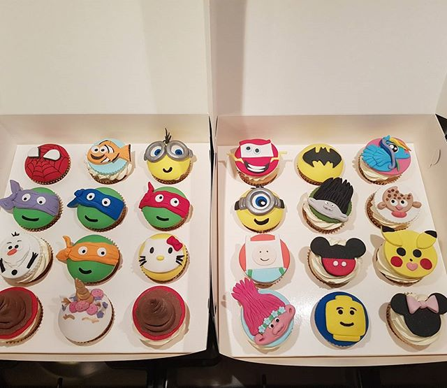 Character cupcakes from last week 😀 _#birthday #fancydress #kidspartyideas #kidsparty #happybirthda