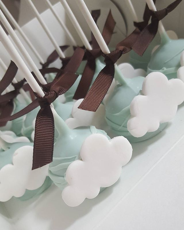 Some of my fav cakepops to date ♡__#clouds #baptism #cakepop #pemulwuycupcakes #vanilla_ #blue #boy