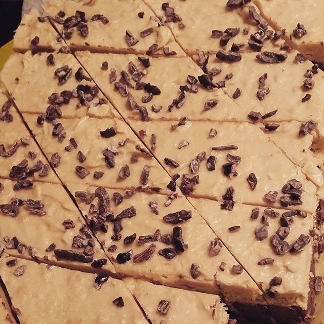 Yummy #vegan peanutbutter brownies ♡__#cleantreats #rawkitchen #myotherpassion ♡ #glutenfree #dairyf