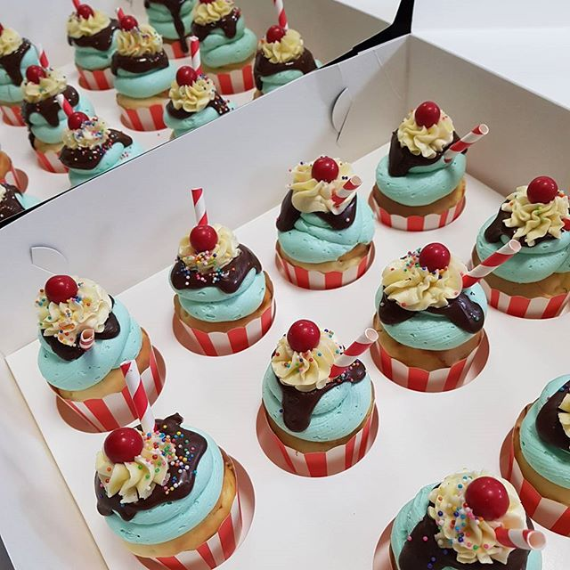 #sundae #pemulwuycupcakes #cupcakes #sweets #yummy #schooltreats #party #birthday #kidspartyideas