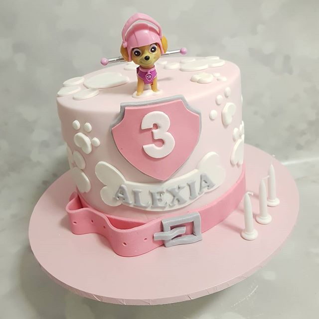 Cutest pink paw patrol cake ♡ _#pemulwuycupcakes #thirdbirthday #partycakes #girlscakes #kidspartyid