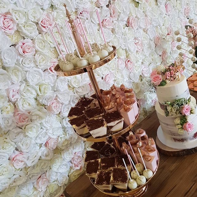 Sweets from yesterday's dessert table set up #pemulwuycupcakes #tiramisu #pannacotta #cakelove #cake