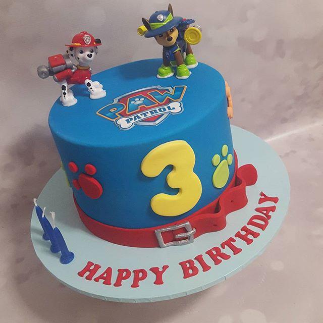 Paw patrol 3rd birthday ☆__#pemulwuycupcakes #pawpatrolparty #pawpatrol #blue #puppy #dogs #chocolat