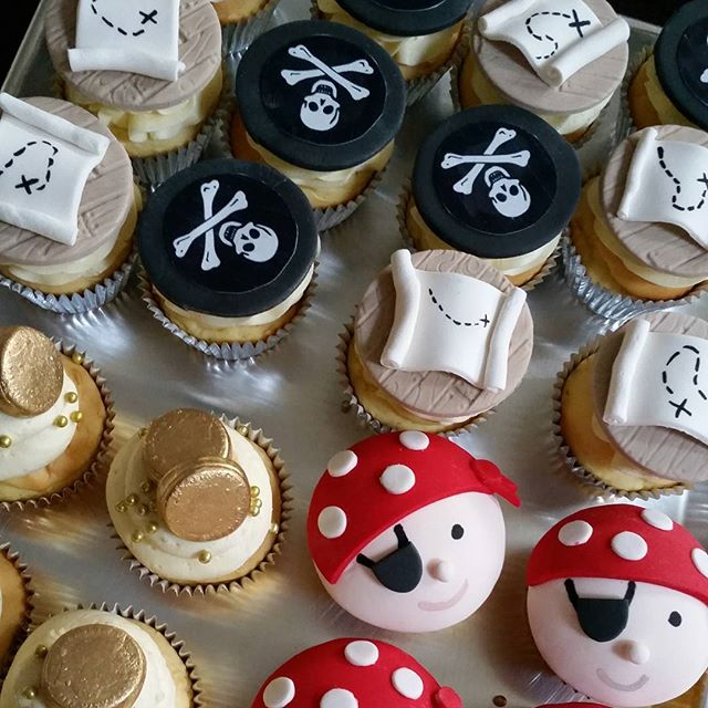 Pirate party favours- these were individually boxed _) #cupcakes #pemulwuycupcakes  #pirate #favors