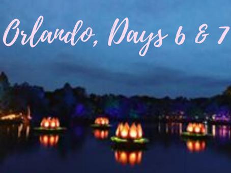 Orlando, Florida Trip, Day 6 & 7
