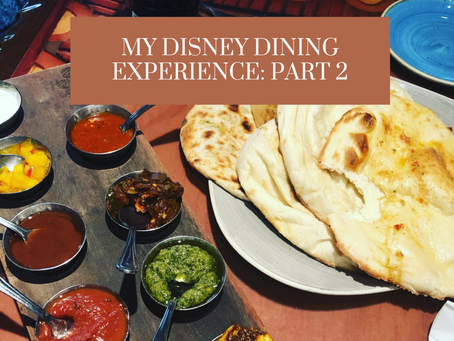 My Disney Dining Experience: Part 2