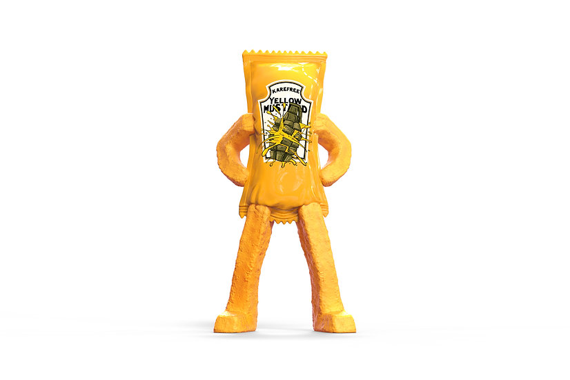 """""""Mustard"""" Karefree Man - Original"""