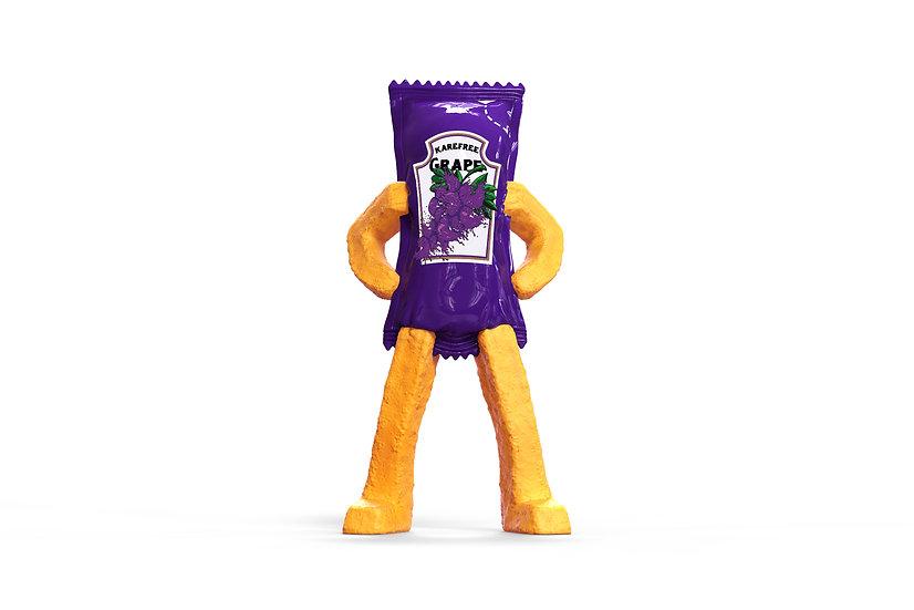 """Grape"" Karefree Man - Original"