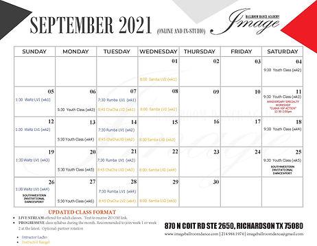 SEPTEMBER 2021 dance group classes