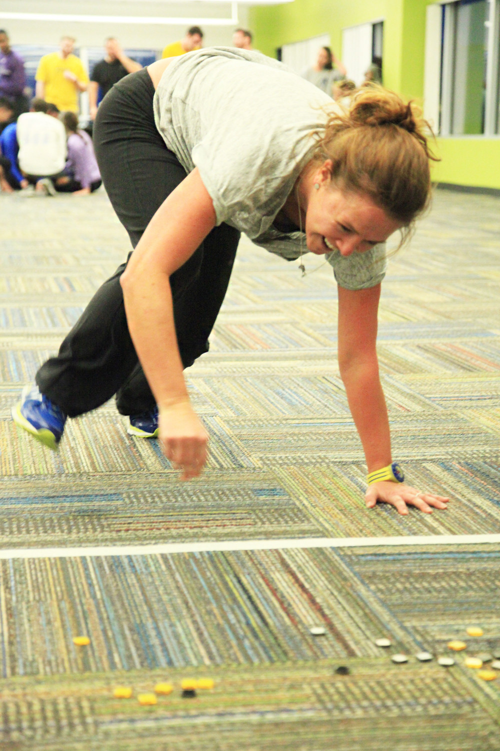 Megan Driscoll joins the rest of the Pharmalogics crew in an on-site team fitness relay race