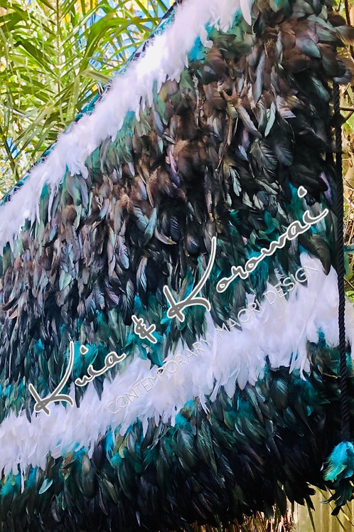 'Te Rangitira' 2XL Adults Full Length Feather Cloak